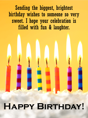 To a Sweet Kid - Happy Birthday Wishes Card