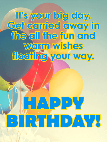 It's Your Big Day! Happy Birthday Card for Kids