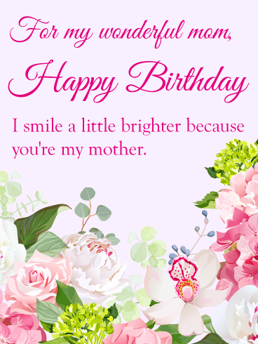 Gorgeous Flower Birthday Card For Mom Birthday Greeting Cards By