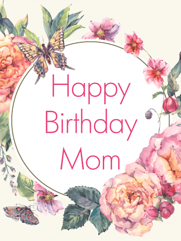 Classic Flower Birthday Card For Mom Birthday Greeting Cards By