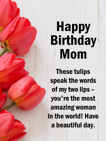 Vibrant Happy Birthday Card for Mother