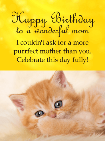 To my Perfect Mother - Happy Birthday Card