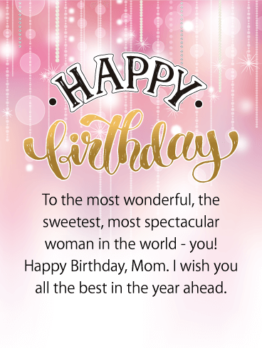Wishing You All the Best - Happy Birthday Card for Mother
