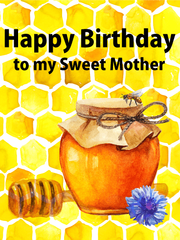 Honeycomb Happy Birthday Card for Mother
