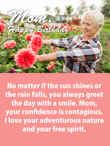 Love Your Spirit! Happy Birthday Card for Mother