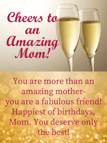 You are More than Amazing! Happy Birthday Card for Mother