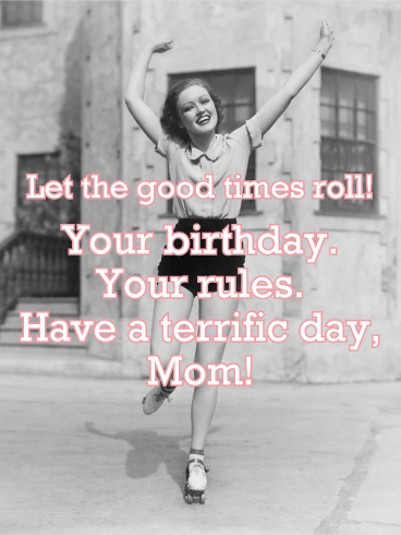 Classic Happy Birthday Card for Mother