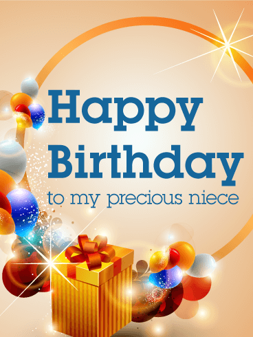 To My Precious Niece Happy Birthday Card Birthday Greeting