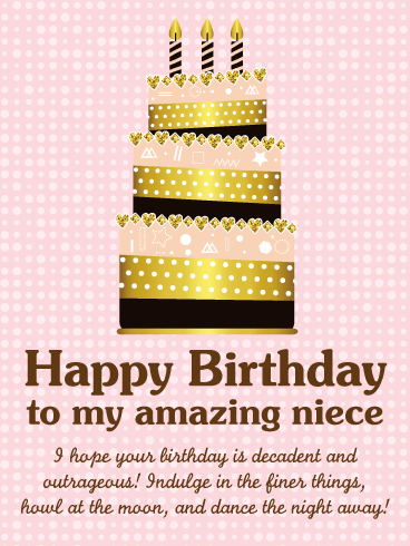 To My Amazing Niece Happy Birthday Wishes Card Birthday