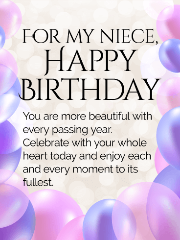 Tremendous Birthday Wishes For Niece Birthday Wishes And Messages By Davia Funny Birthday Cards Online Alyptdamsfinfo