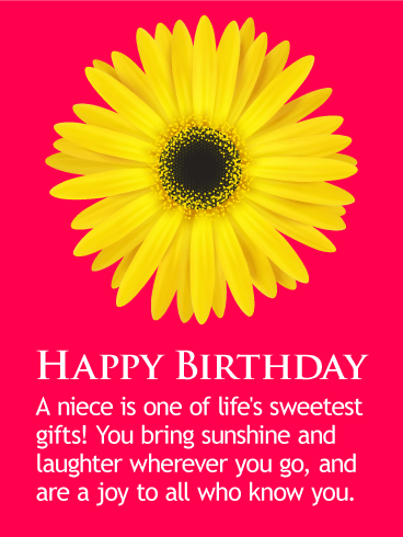 You Bring Sunshine! Happy Birthday Wishes Card for Niece