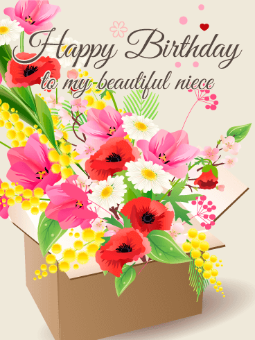 Birthday flower cards for niece birthday greeting cards by gorgeous flower happy birthday card for niece bookmarktalkfo Image collections