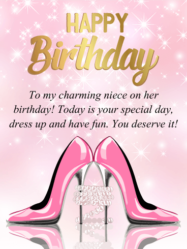 To My Charming Niece Happy Birthday Card