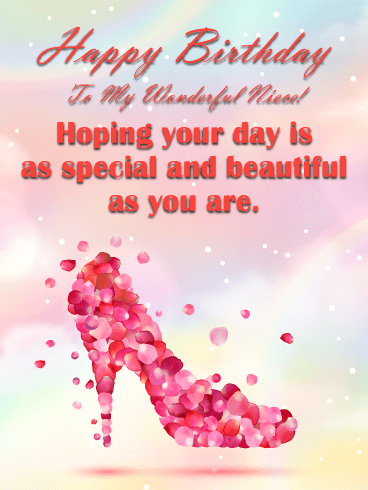 Sparkle birthday cards for niece birthday greeting cards by hope your day is beautiful happy birthday card for niece bookmarktalkfo Image collections