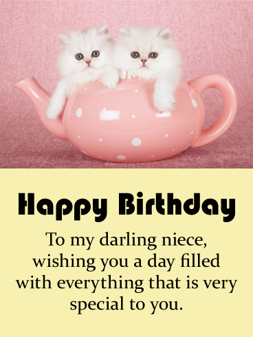 To my Darling Niece - Happy Birthday Card