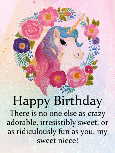 To My Sweet Niece Happy Birthday Card Birthday Greeting Cards
