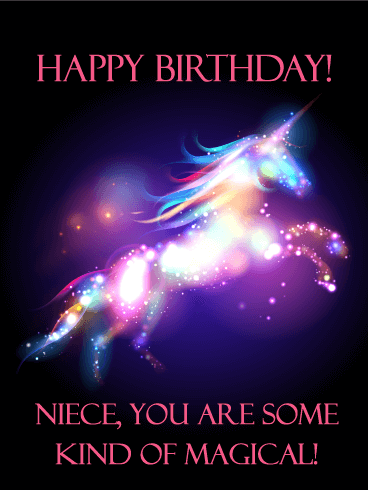 You are Magical - Happy Birthday Card for Niece