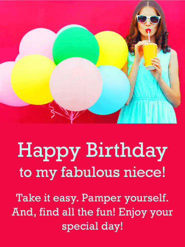 To my Fabulous Niece - Happy Birthday Card