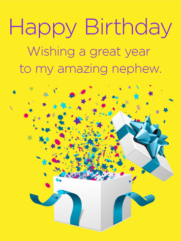 Birthday Gift Box Cards For Nephew Birthday Greeting Cards By