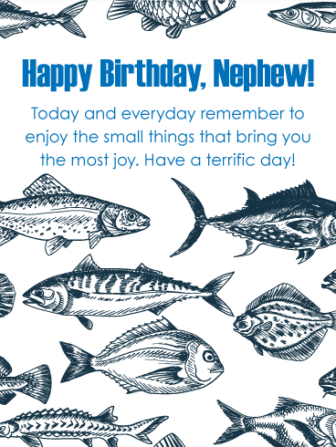 Fishing Happy Birthday Card for Nephew