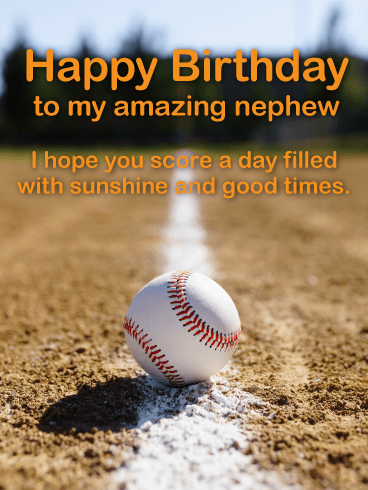 Baseball Happy Birthday Card for Nephew