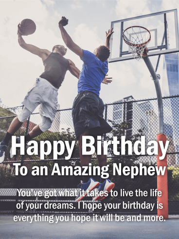 To an Amazing Nephew - Happy Birthday Card