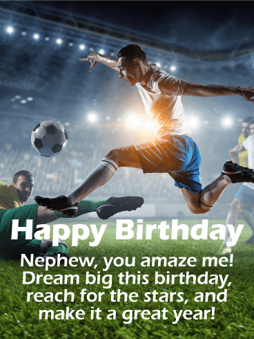Soccer Happy Birthday Card for Nephew