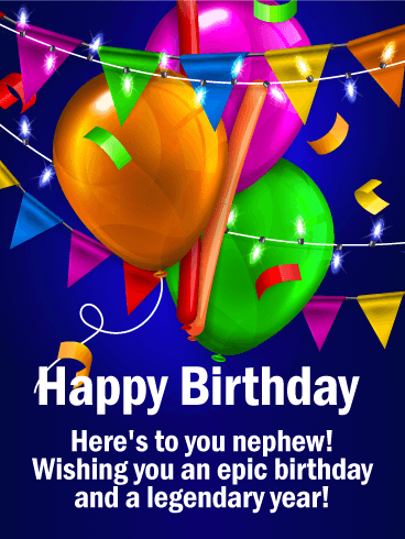 Wishing You an Epic Day! Happy Birthday Card for Nephew
