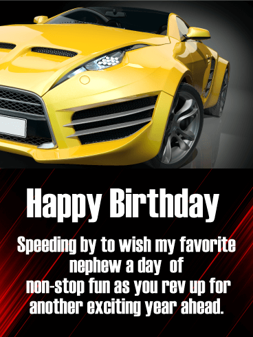 Have Non-Stop Fun! Happy Birthday Card for Nephew