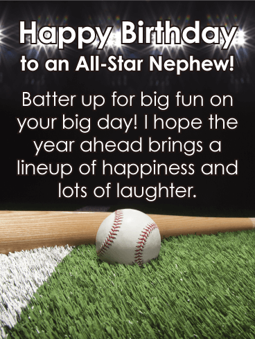To an All-Star Nephew - Happy Birthday Card
