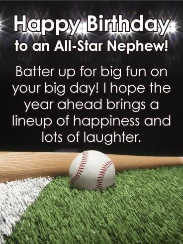 To An All Star Nephew Happy Birthday Card Birthday