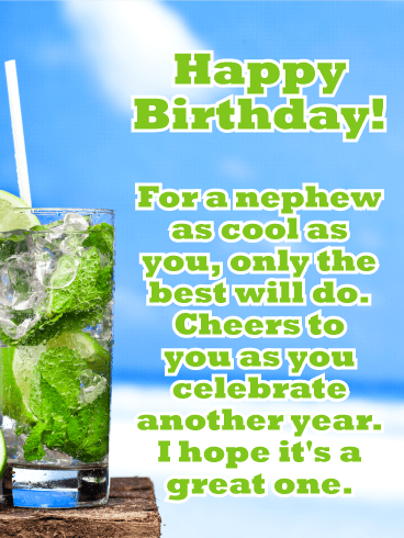 Cheers to You, Nephew! Happy Birthday Card