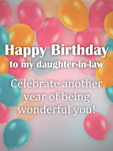To a wonderful daughter in law happy birthday card birthday to a wonderful daughter in law happy birthday card bookmarktalkfo Image collections