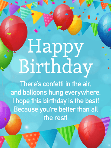 To the Best Day! Happy Birthday Wishes Card