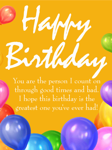To the Greatest Day! Happy Birthday Wishes Card