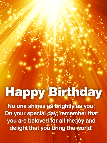 You Bring Joy to the World! Happy Birthday Wishes Card