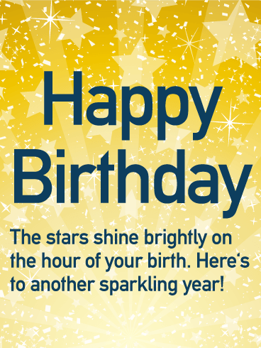 Have A Sparkling Year Happy Birthday Wishes Card