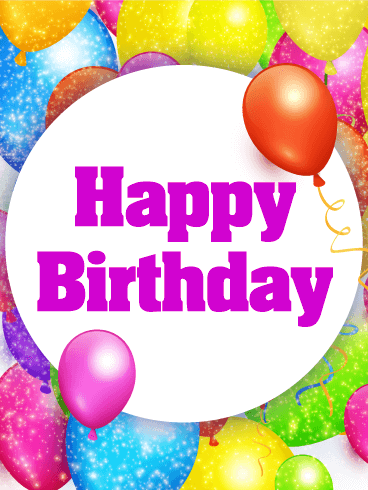 Fun & Colorful Happy Birthday Card