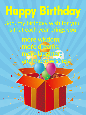 Many More Wishes for a Son - Happy Birthday Wishes Card