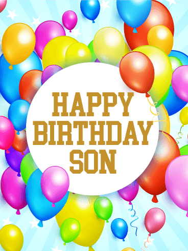 Rainbow Birthday Balloon Card for Son