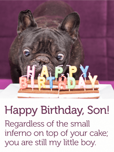 To My Little Boy   Happy Birthday Card For Son