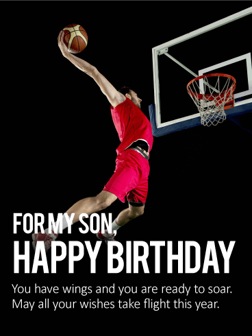 You Have Wings - Happy Birthday Wishes Card for Son