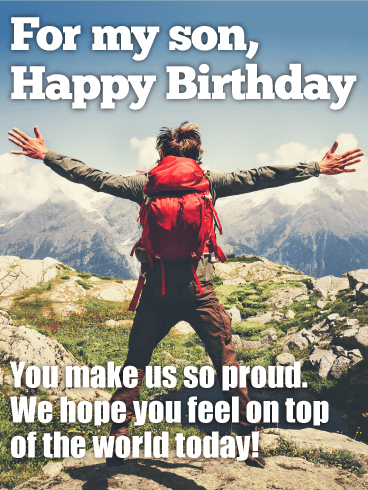 You Make Us Proud Happy Birthday Wishes Card For Son Birthday
