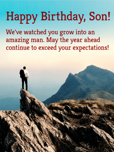 To an Amazing Man - Happy Birthday Wishes Card for Son