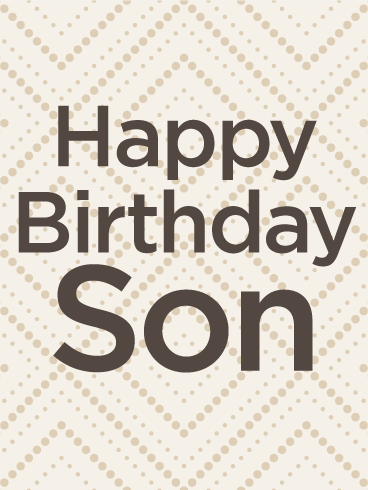 Seamless Pattern Happy Birthday Card for Son