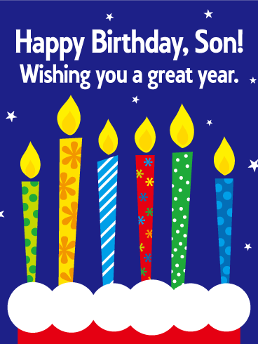 Wishing You a Great Year! Happy Birthday Card for Son