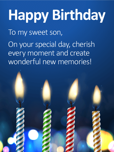 To my Sweet Son - Happy Birthday Wishes Card
