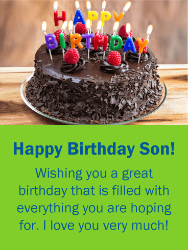 Everything You are Hoping for! Birthday Wishes Card for Son