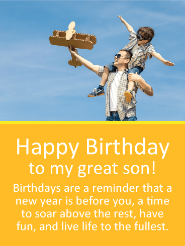 Live Life To The Fullest Happy Birthday Wishes Card For Son