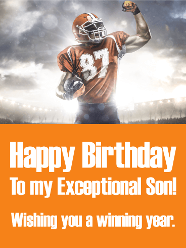 Wishing You a Winning Year! Happy Birthday Card for Son